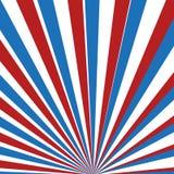 Röda, blåa och vita strålar Royaltyfri Bild