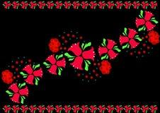 Röda blåklockor på en svart bakgrund Royaltyfri Bild