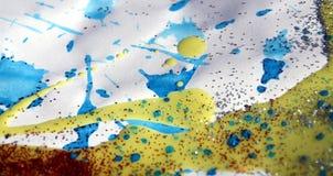 Röda blått försilvrar vaxartad textur för fläckar och försilvrar ljus, vintervattenfärgbakgrund Royaltyfri Fotografi