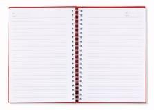 röda blanka öppna sidor för bokanmärkning Fotografering för Bildbyråer