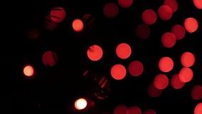 Röda blinkaljus för bokeh