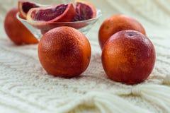 Röda blodiga Sicilian apelsiner fotografering för bildbyråer