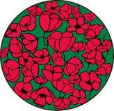 Röda blommor Arkivfoto