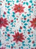 Röda blommor med sidamodellen för bakgrunder Royaltyfri Bild