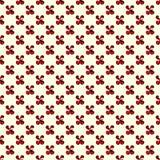 Röda blommor på för modellvektor för ljus bakgrund en sömlös illustration Royaltyfria Bilder