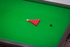 Röda bollar för snooker Royaltyfri Foto