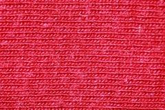 Röda bomullsfibrer royaltyfri foto