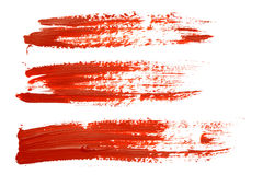 Röda borsteslaglängder Royaltyfri Foto