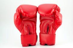 Röda boxninghandskar Royaltyfri Fotografi