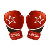 röda boxninghandskar Vektor Illustrationer