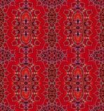 Röda bruna lilor för abstrakta ellipsprydnader Royaltyfria Bilder