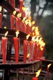 röda burning stearinljus Royaltyfria Foton