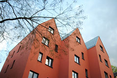 Röda byggnader Fotografering för Bildbyråer