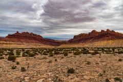 Röda Canyonlands av den Utah öknen royaltyfri foto