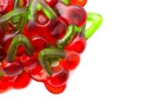 Röda Cherry Gummies arkivfoto