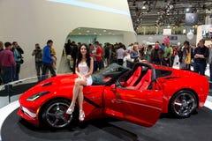 Röda Chevrolet Corvette Royaltyfri Foto