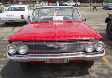 1961 röda Chevy Impala Royaltyfri Fotografi