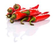 Röda Chili Peppers II arkivfoto