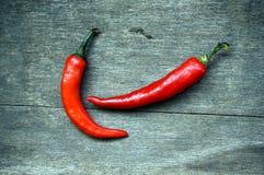 röda chilies Arkivfoton