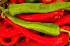 röda chilipaprikor Royaltyfri Bild