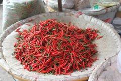 Röda Chilipeppar Arkivfoto