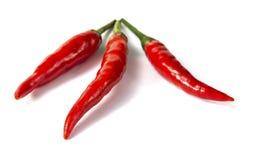 Röda Chilles Poppers Arkivbild