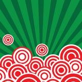 Röda cirklar och klartecken Arkivfoto