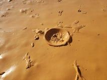 Röda Clay Mud arkivbilder