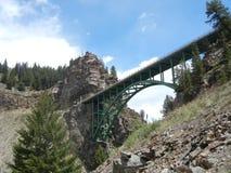 Röda Cliff Bridge Arkivfoto