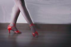 Röda dansskor Royaltyfri Fotografi