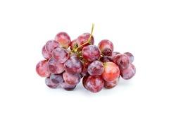 Röda druvor är en grupp Arkivbilder