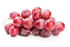 Röda druvor i vattendroppar Royaltyfria Bilder