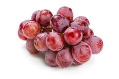 Röda druvor i vattendroppar Royaltyfri Bild