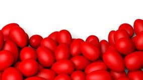 röda easter ägg som målas stock illustrationer