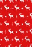 Röda enkla julhjortar för skandinavisk nordisk stil för ferieberömmar Jul dekor för nytt år seamless vektor illustrationer