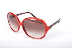 Röda exponeringsglas för en sol Fotografering för Bildbyråer
