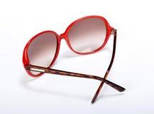 Röda exponeringsglas för en sol Royaltyfri Foto