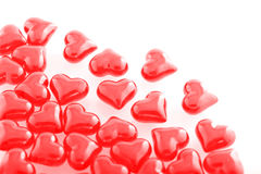 Röda exponeringsglas-hjärtor Royaltyfria Foton