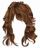Röda färger för moderiktiga hår för kvinna långa Skönhetmode Royaltyfri Foto