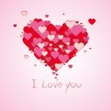 Röda förälskelsehjärtor Royaltyfri Illustrationer