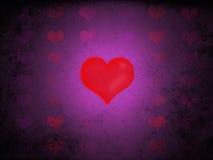Röda förälskelsehjärtor Stock Illustrationer