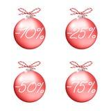 Röda försäljningsbollar Arkivbilder