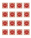 Röda försäljningsstämplar Royaltyfri Illustrationer