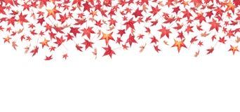 röda fallande leaves för höst Royaltyfri Fotografi
