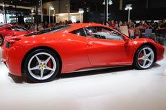 Röda Ferrari 458 italia Fotografering för Bildbyråer