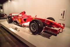Röda Ferrari 2006 248 F1 Fotografering för Bildbyråer