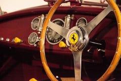 Röda Ferrari 1947 125 S Fotografering för Bildbyråer