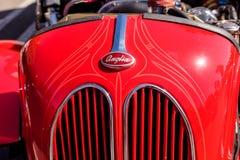 Röda Ford Anglia Coupe 1950 Royaltyfria Foton