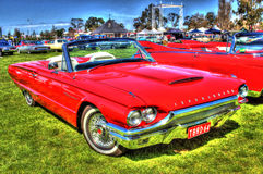 1964 röda Ford Thunderbird Royaltyfri Fotografi