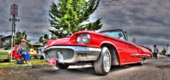 Röda Ford Thunderbird Fotografering för Bildbyråer